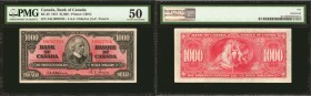 CANADA. Bank of Canada. 1000 Dollars, 1937. BC-28. PMG About Uncirculated 50.