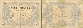 ALGERIA. Banque de l'Algerie. 5 Francs, 1925. P-71b. Fine.