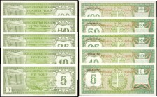 ARUBA. Banco Central Di Aruba. Mixed Denominations, 1986. P-1 to 5. About Uncirculated.