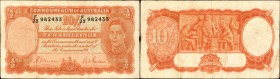 AUSTRALIA. Commonwealth of Australia. 10 Shillings, (1939-52). P-25a & 25b. Fine-Very Fine.