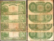 BAHAMAS. Bahamas Government. 4 Shillings, 1936. P-13d. Fine.