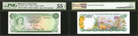 BAHAMAS. Central Bank of the Bahamas. 1 Dollar, 1974. P-35a. PMG About Uncirculated 55 EPQ.