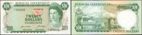 BERMUDA. Bermuda Government. 20 Dollars, 1970. P-26a. Uncirculated.