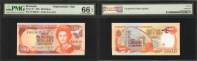 BERMUDA. Bermuda Monetary Authority. 100 Dollars, 1996. P-45. Replacements. PMG Gem Uncirculated 66 EPQ.