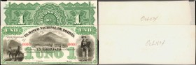 BOLIVIA. Banco Nacional de Bolivia. 1 Peso, ND. P-S191p. Proofs. Choice About Uncirculated.
