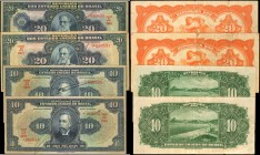BRAZIL. Thesouro Nacional. 10 & 20 Mil Reis, ND. P-39, 48, & 127. Very Fine.
