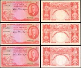 BRITISH CARIBBEAN TERRITORIES. Currency Board of the British Caribbean Territories. 1 Dollar, 1950-51. P-1. Very Fine.