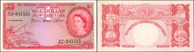 BRITISH CARIBBEAN TERRITORIES. British Caribbean Territories. 1 Dollar, 1953. P-7a. Very Fine.