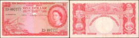 BRITISH CARIBBEAN TERRITORIES. Currency Board of the British Caribbean Territories. 1 Dollar, 1961. P-7c. Very Fine.
