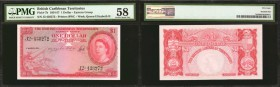 BRITISH CARIBBEAN TERRITORIES. British Caribbean Territories, Eastern Group. 1 Dollar, 1954-57. P-7b. PMG Choice About Uncirculated 58.