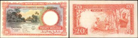 BRITISH WEST AFRICA. West African Currency Board. 20 Shillings, 1954. P-10. Very Fine.