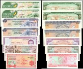 BURUNDI. Banque de la Republique du Burundi. Mixed Denominations, Mixed Dates. P-24, 27a, 28a, 30a, 30b, 31a, & 31b. Uncirculated.