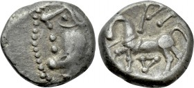 "WESTERN EUROPE. Central Gaul. Lingones (1st century BC). Quinarius. ""Kaletedou"" type."
