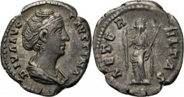 AR Denarius Rome 141– AD, FAUSTINA Senior wife of Ant. Pius Draped bust right DIVA AVG FAVSTINA. Rev. Venus standing right with right hand about to dr...