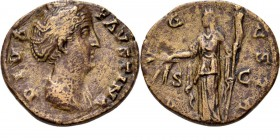 Æ Dupondius 141– AD, FAUSTINA Senior wife of Ant. Pius Draped bust right DIVA FAVSTINA. Rev. Ceres standing left holding corn-ears and sceptre AVGVSTA...