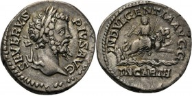 AR Denarius Rome 202–210 AD, SEPTIMIUS SEVERUS 193–211 AD Laureate head right SEVERVS PIVS AVG. Rev. Dea Caelestis riding right on lion, holding thund...