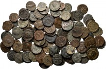 Lot Ancient (100) Consisting of late Roman bronzes from the third and fourth century. On average Fine
