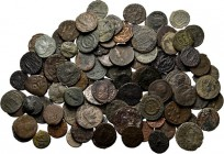 Lot Ancient (100) Miscellaneous lot, mostly late fourth century Roman bronzes. On average nearly Fine