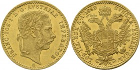 Austria - Ducat 1868 A, Gold, FRANZ JOSEPH I 1848–1916 Vienna mint. Laureated head to right. Rev. crowned double-headed eagle.Fr. 492; KM. 22663.47 g ...