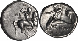 ITALY. Calabria. Tarentum. AR Didrachm, ca. 281-240 B.C. NGC Ch VF.