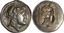 THRACE. Kingdom of Thrace. Lysimachos, 323-281 B.C. AR Tetradrachm (17.02 gms), Cyzicus Mint. EXTREMELY FINE.