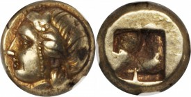 IONIA. Phocaea. EL Hekte (2.59 gms), ca. 477-388 B.C. NGC Ch EF, Strike: 5/5 Surface: 5/5.