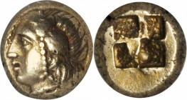 IONIA. Phocaea. EL Hekte (2.55 gms), ca. 477-388 B.C. NGC Ch VF, Strike: 5/5 Surface: 4/5.