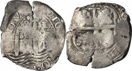 BOLIVIA. 8 Reales, 1676-P E. Potosi Mint. Charles II. NGC FINE-15.