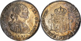 BOLIVIA. Real, 1791-PTS PR. Potosi Mint. Charles IV. PCGS MS-63 Gold Shield.