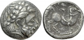 "EASTERN EUROPE. Imitations of Audoleon (2nd-1st centuries BC). Tetradrachm. ""Π"" type."