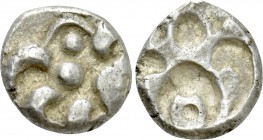 "CENTRAL EUROPE. Vindelici. Quinarius (1st century BC). ""Manching C"" type. Obverse brockage."