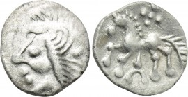 "CENTRAL EUROPE. Vindelici. Hemiobol (1st century BC). ""Manching 2"" type."