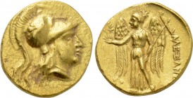 KINGS OF MACEDON. Alexander III 'the Great' (336-323 BC). GOLD Stater. Tyre. Uncertain RY date.