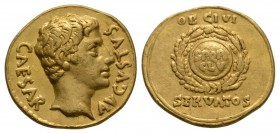 Ancient Roman Provincial Coins - Augustus - Spain - Inscribed Shield Gold Aureus