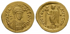 Ancient Roman Imperial Coins - Zeno - Victory Gold Solidus