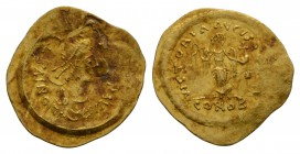 Ancient Byzantine Coins - Justin I - Gold Victory Tremissis