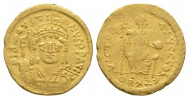 Ancient Byzantine Coins - Justin II - Gold Light Solidus (22 Siliquae)