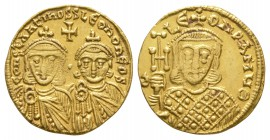 Ancient Byzantine Coins - Constantine V - Gold Solidus