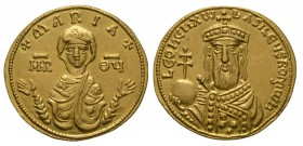 Ancient Byzantine Coins - Leo VI - Maria Gold Solidus