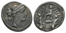 Ancient Roman Republican Coins - Faustus Cornelius Sulla - Bocchus and Jugurtha Denarius