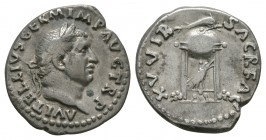 Ancient Roman Imperial Coins - Vitellius - Tripod-Lebes Denarius