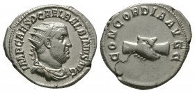 Ancient Roman Imperial Coins - Balbinus - Clasped Hands Antoninianus