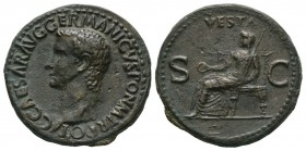 Ancient Roman Imperial Coins - Caligula - Vesta As