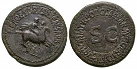 Ancient Roman Imperial Coins - Nero and Drusus (under Caligula) - Riding Dupondius