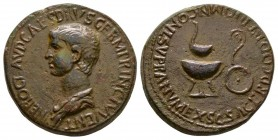 Ancient Roman Imperial Coins - Nero (under Claudius) - Emblems Dupondius