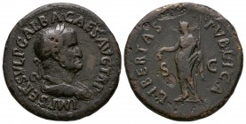 Ancient Roman Imperial Coins - Galba - Libertas Sestertius