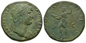 Ancient Roman Imperial Coins - Hadrian - Virtus Sestertius