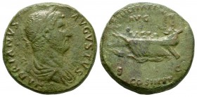 Ancient Roman Imperial Coins - Hadrian - Galley Sestertius
