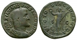 Ancient Roman Imperial Coins - Maximinus I - Victory Sestertius