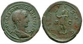 Ancient Roman Imperial Coins - Gordian III - Virtus Sestertius